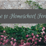 How to Homeschool Forever